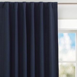 Pottery Barn Kids Blue Quincy Canvas Curtain Panel